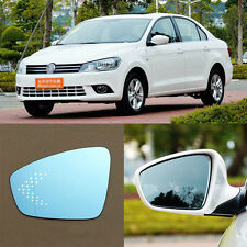 Rearview Mirror Blue Glasses LED Turn Signal with Power Heating For VW Jetta