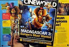 CINEMA FILM MAGAZINE OCTOBER 2012 MADAGASCAR 3 ETC