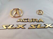NEW OEM GOLD ACURA SLX EMBLEM KIT 08F20-S47200