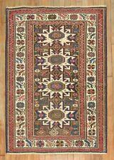 Antique Caucasian Shirvan Kazak Worn Rug Size 3'5''x4'8''