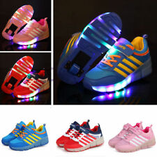 Kids Roller Shoes Boys Girls Sports Wheels Skates Gift Flash LED heelys Trainers