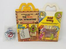Vintage The Real Ghostbusters Happy Meal Box & Toy Sealed 1987 Kenner Mcdonalds
