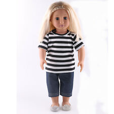 good quality  2pcs set clothes set for 18inch American girl doll party n171