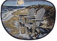 Adirondack Beach Chair Tapestry Kitchen Slice Mat Rug 19 x 27 Ocean Beach