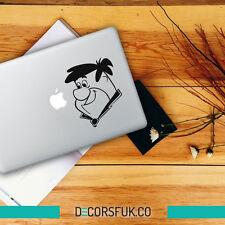 Fred Flintstone Macbook Stickers on black vinyl | Laptop sticker | Macbook Decal