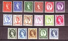 GB 1960 Wilding Stamps Set~(17) Multiple Crowns Phosphor~Unmounted Mint~UK