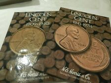 H.E. Harris Coin Folders Lincoln Cents 1 and 2 (1909-1974) (Album , book)