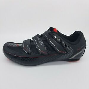 Specialized Sport Road EU 43 / US 9.6  Black Red 3-Bolt Cycling Bike Shoes