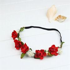 Boho Floral Flower Festival Wedding Elastic Hairband Garland Head Band