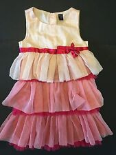 NWT BABY GAP TODDLER GIRLS 3T 3 YEARS TULLE DRESS I WANT CANDY LINE PINK RUFFLES