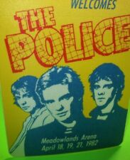 The Police Backstage Pass Concert Tour Original 1982 Ghost In The Machine NJ Gig