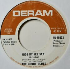 """Moody Blues Ride My See Saw Thick Early Press 7"""" Vinyl NM 45 Prog Rock British"""