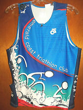 Champion System Emerald Coast Florida Triathalon Club Running Biking Jersey Xl