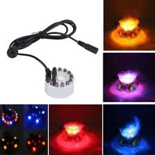 1X Mist Maker With 12 LED Light Fog Machine Fountain Pond Aquarium Fogger Mister