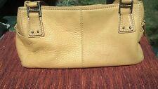 Beautiful Fossil Leather handbag/purse medium yellow, three compartments