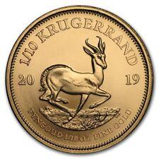 1/10 oz Gold Krügerrand 2019 - Südafrika Goldmünze Stempelglanz