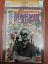 MARVEL AGE 41 CGC SS 9.2 STAN LEE PHOTO COVER SIGNED INCLUDES STANS SOAPBOX