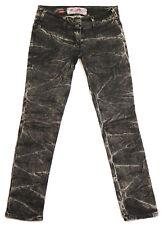 RIVER ISLAND Skinny Slim Fit Stretch Acid Wash Denim Jeans 12 uk L32