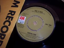 """NM 1973 Hudson Ford Take It Back / Make No Mistake UK Print 7"""" 45RPM w/ppr slv"""