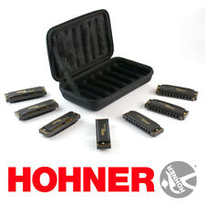 Hohner Piedmont Blues Harmonica Harp Set of 7 with Case PBH7 PBH-7