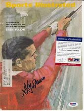 GAY BREWER SPORTS ILLUSTRATED COVER ONLY AUTOGRAPH PSA DNA CERTIFIED AUTHENTIC
