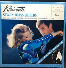 Vintage Kleinert's Sew-In Dress Shields for Sweat New Old Stock White Size 2