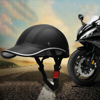 New Adjustable German Style Motorcycle Half Helmet Baseball Cap Style Bike