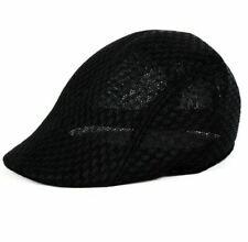 Para Hombre Multi color de malla transpirable Boina Sombrero Gorra Ajustable Plano Verano Talla 1 UK