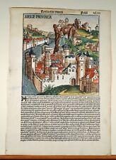 Schedel Weltchronik 1493 Blatt 46 England Stammbaum Salomon Anglie Provincia
