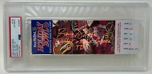 BARRY SANDERS Signed 1988 HOLIDAY BOWL Last College GAME TICKET OSU Cowboys PSA