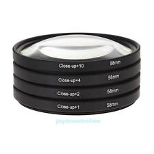 58MM Macro Close Up Lens Filter Kit +1 +2 +4 +10 For Canon EOS 650D 600D 18 #JT1