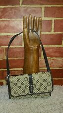 RELIC BY FOSSIL SMALL CLOTH PURSE/WALLET BROWN & BEIGE VEGAN 2415