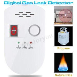 Digital Gas Leak Detector Propane Butane Methane Natural Sensitive Alarm