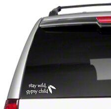 """Stay Wild Gypsy Child 8"""" Car Vinyl Sticker Decal free spirit hippie vintage *G18"""