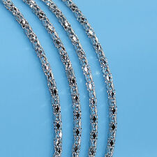 18 Inches Fashion Men'S Stainless Steel 2MM Jewelry Chain Necklace Pendant R19