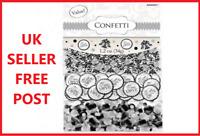 True Love Confetti TRIPLE PACK Wedding Glitter Table Decorations Black Silver!