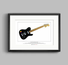 Thom yorke's 1972 deluxe telecaster limited edition fine art print a3