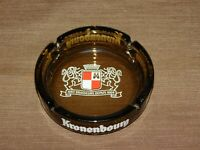 "VINTAGE BEER CIGARETTE TOBACCO 5 1/2"" ACROSS  KRONENBOURG GLASS ASHTRAY"