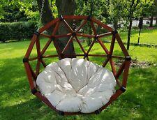 Fotel wiszący, huśtawka drewniana ogrodowa, kokon, bocianie gniazdo, kosz