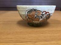 Y0578 CHAWAN Inuyama-ware utensil Japanese Tea Ceremony bowl pottery Japan