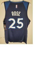 FANATICS FAST BREAK NBA MINNESOTA TIMBERWOLVES DERRICK ROSE BLUE JERSEY sz XL