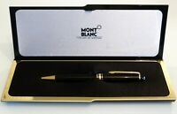 MONTBLANC MEISTERSTUCK 164 BALLPOINT PEN IN BLACK RESIN WITH GOLD PLATED TRIM