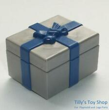 Playmobil         Dolls House - Present Gift Box in Blue & Silver with Lid - NEW
