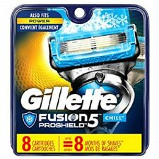 Gillette Fusion ProShield Chill Men Razor Blade Refills 8 Count Factory Sealed