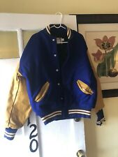 University Michigan Wolverines Varsity Letterman Jacket Size -Large  Wool USA R