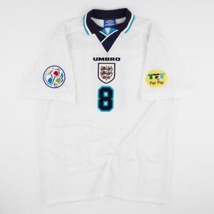 England Euro 1996 96 Home Shirt Football Medium Football GASCOIGNE Gazza