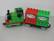 "Lego Duplo Eisenbahn 5554 -Thomas Lok - ""Percy"" Nr.6  mit doppeltem Anhänger"