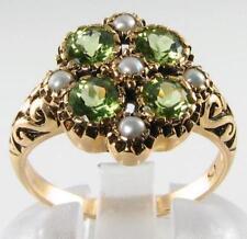 Peridot 9 Carat Ring Art Deco Fine Jewellery