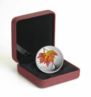 2009 $20 FINE SILVER PROOF COIN – AUTUMN SHOWERS CRYSTAL RAINDROP