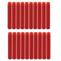 100pcs 7.2cm Red Refill Bullet Darts for Nerf N-strike Elite Series Blasters Toy